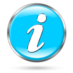 Blue information icon button