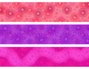 Floral Pink & Purple Border Collection