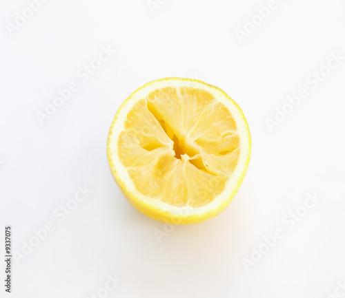 Half of aged lemon