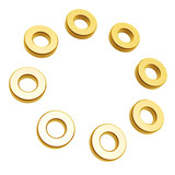 golden rings circle array isolated on white background poster