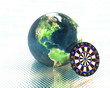 3D earth with darts