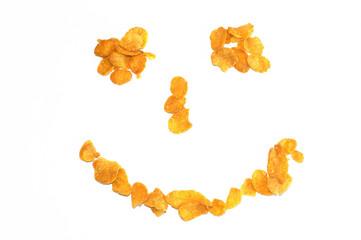 Smiling corn flakes pattern