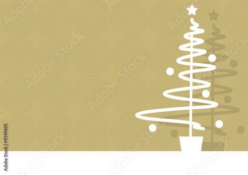 Abstract christmas background with tree