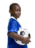 Fototapety A young preteen with his favorite thing... Soccer