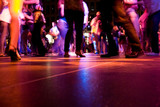 Fototapety A low shot of the dance floor with people dancing