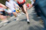 Marathon racer. Blur from the original shot poster