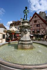 Famous fountain in Dijon, Burgundy, France