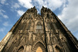 Cologne cathedral in the light of setting sun