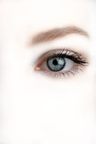 sight, female eye on white background poster