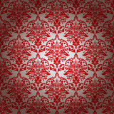 red and silver repeating wallpaper design with gradient effect poster
