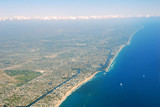 Aerial view of the Southeast Florida coast poster