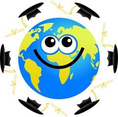 graduation globe
