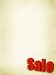 red sale word on abstract dirty background,