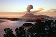 Volcano with smoke - 9378488