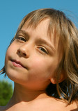 portrait de fillette calme 2 poster