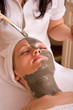 wellness concept with face care spa therapy session