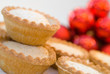 Mince pies in seasonal Christmas setting - shallow dof