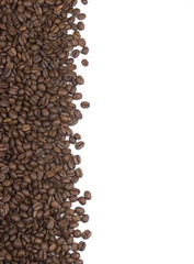 Coffee beans on white background suitable for background