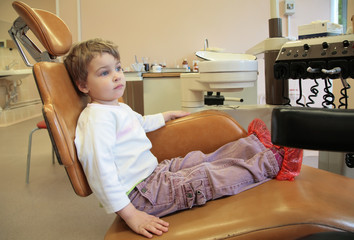 little girl in dental surgery