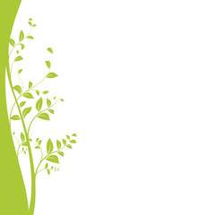 vecteur série - plante en courbes vectorielles