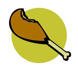 chicken or turkey leg