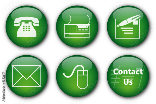 Contact buttons (green)