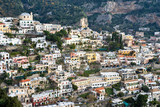 Panoramic view of Positano, Gulf of naples, italy.