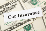Headline of car Insurance for background poster