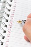 Calendar agenda, schedule, close up shot for background poster