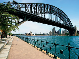Walk towards Sydney Bridge