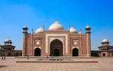 The entrance to Taj Mahal complex, Agra, India poster