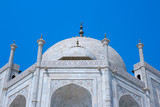 Taj Mahal. View on the mausoleum from the East.The picture . poster