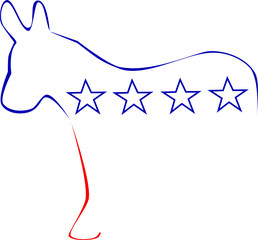 Stylized symbol of democrats