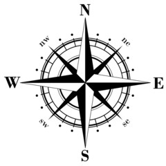Black compass rose