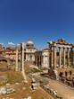 antike rom heiligtum, saturn tempel & kirche st luca e martina