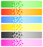 Fototapety Six abstract banners with pixels