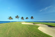 Golf Course on Ocean Shore of Kona Island, HI