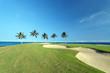 Golf Course on Ocean Shore of Kona Island, HI