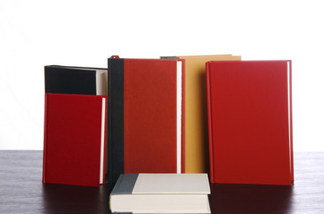 Hardcover books vertical