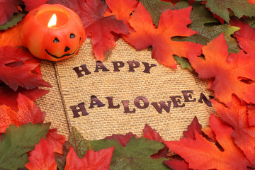 happy halloween background with green and oranges