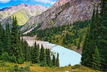 Wild mountain terrain