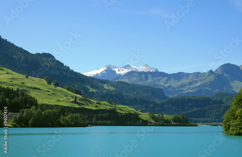 Lake Saarnensee near Luzern (Swiss Alps)