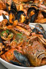 Cacciucco alla Livornese, Typical  Italian Seafood Soup