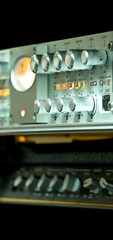 Knobs of an audio mixer and equalizer