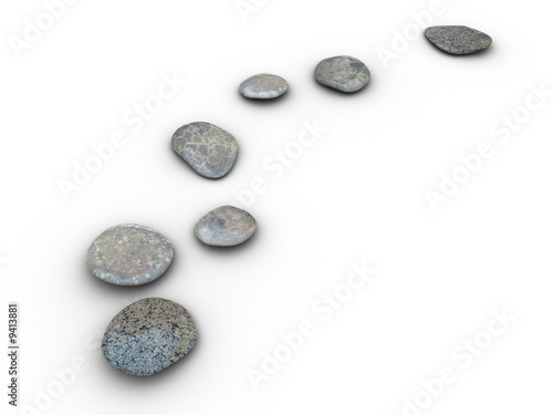 Isolated aligned stones