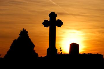 Friedhofssilhouette