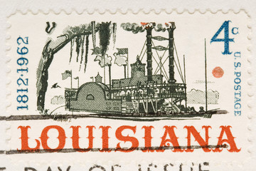 This is a Vintage 1962 Canceled US Stamp Lousiana