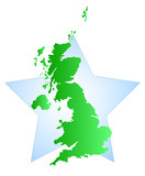 Great Britain with Star poster