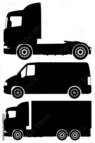 trucks vector set
