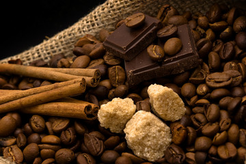 cane-sugar, chocolate and spices